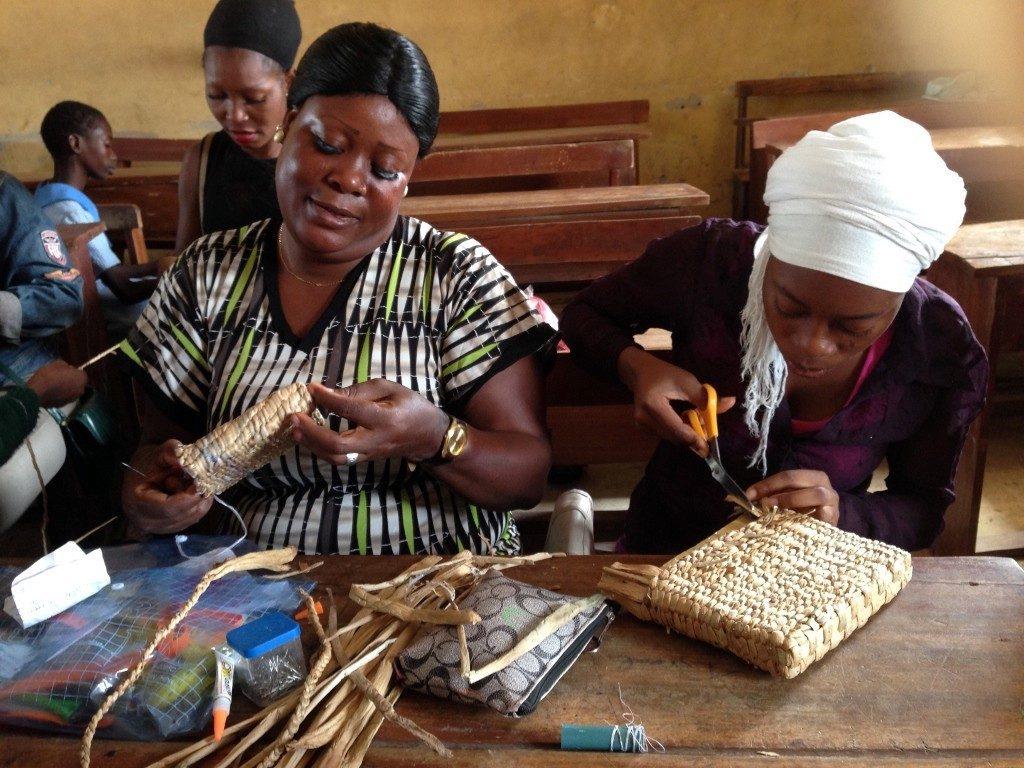 Weavers creating their crafts at MitiMeth
