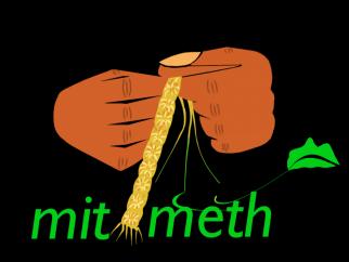 MetiMeth's logo of hands weaving